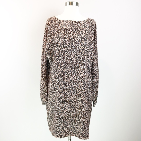 8a5ac4e6bb52 LOFT Dresses   Nwt Leopard Print Long Sleeve Shift Dress M   Poshmark